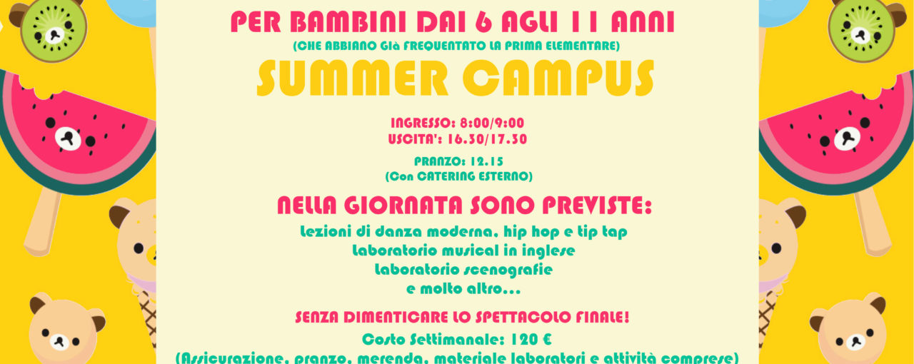 SUMMER CAMPUS RETRO 2 FINITO